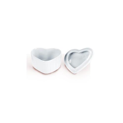 Porslin droppskål med lock hjärta