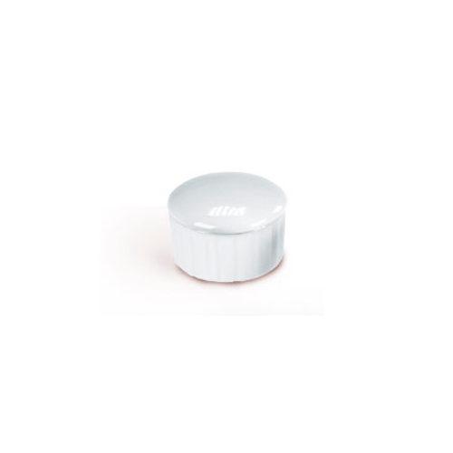 Doppskål tilvekad av porslin, med lock för pulver och vätska