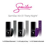 Semilac color Kit 01 – Party Night