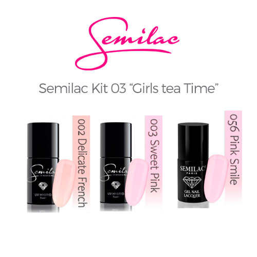 Semilac color Kit 03 - Gilrs Tea Time