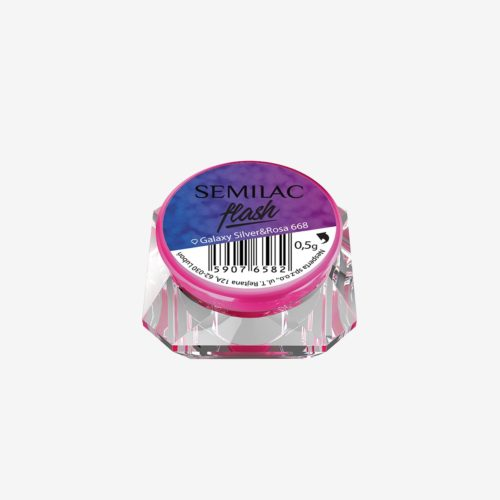 Semilac Flash Galaxy Silver&Rosa 668