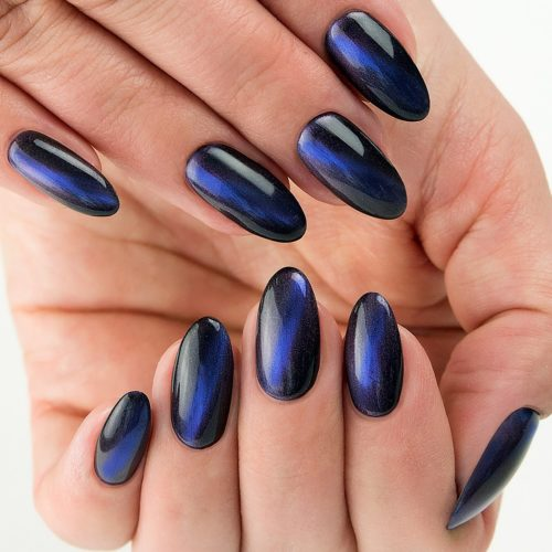 Semilac Cat Eye 613 Blue 7ml.