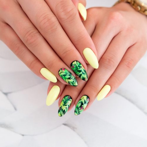 040 GEL POLISH SEMILAC CANARY GREEN 7ML