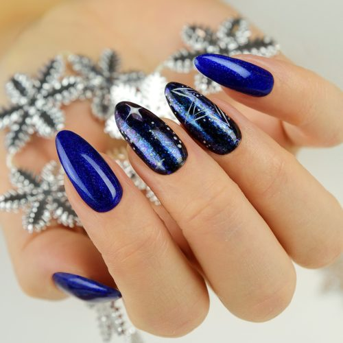 087 GEL POLISH SEMILAC GLITTER INDIGO 7ML