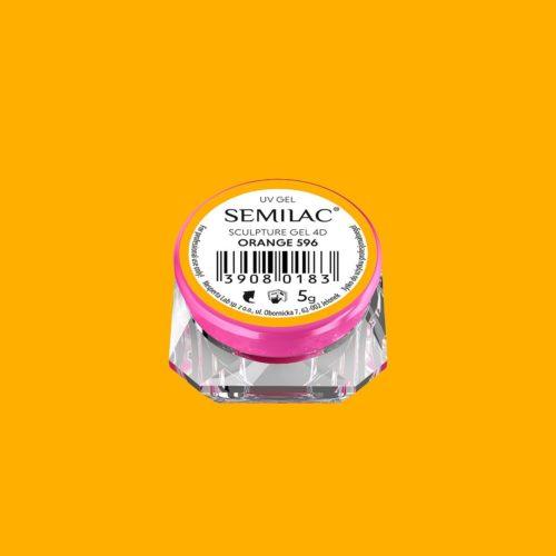 SEMILAC SCULPTURE GEL 4D WHITE 596 5gr