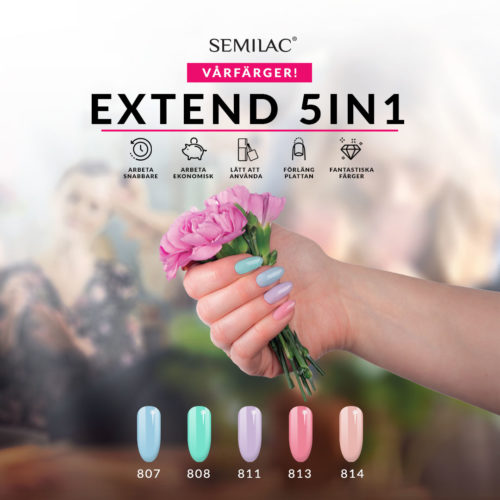 Semilac Extend 818-5in1- Pastel Blue 7ml.