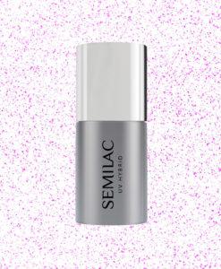 SEMILAC TOP NO WIPE T17 BLINKING SPARKLING PINK 7ML